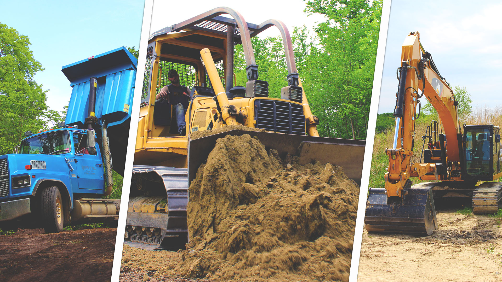 Ripleys bulldozer pushing dirt